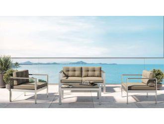 Renava Baja Outdoor Grey Sofa Set