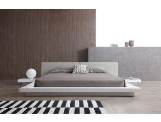 Modrest Opal Modern White & Grey Platform Bed