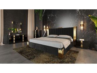 Modrest Token Modern Black & Gold Bedroom Set