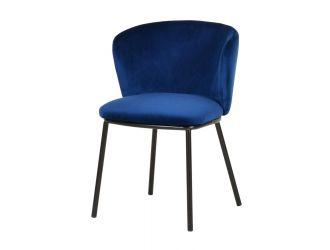 Modrest Bessie - Modern Blue Velvet Dining Chair (Set of 2)