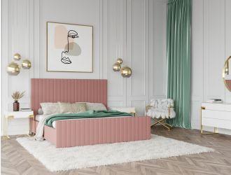 Modrest Beverly - Modern Mauve Velvet Bed