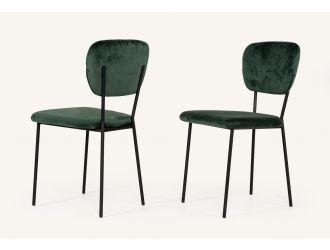Modrest Billy Modern Green Velvet Dining Chair (Set of 2)