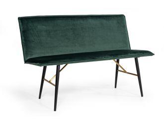Modrest Billy Modern Green Velvet Dining Bench