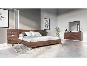 Nova Domus Brooklyn - Italian Modern Walnut Bed Set
