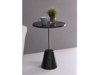 Modrest Bruce - Contemporary Black Marble End Table