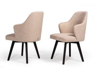 A&X Caligari Modern Beige Fabric Dining Chair (Set of 2)
