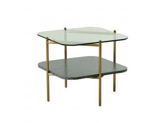Modrest Cari - Glam Gold + Glass End Table