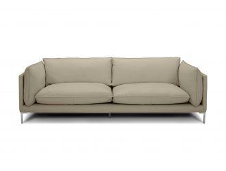Divani Casa Harvest - Modern Taupe Full Leather Sofa