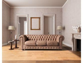 Estro Salotti Chester Modern Brown Leather Sofa Set