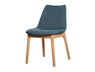 Modrest Chrissy - Modern Blue Fabric Dining Chair (Set of 2)