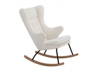 Modrest Colfax - Modern White Sheep Rocking Chair