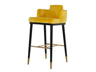 Modrest Conifer - Modern Glam Yellow Barstool