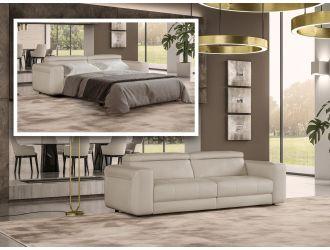 Coronelli Collezioni Icon - Modern Italian Leather Queen Sofa Bed