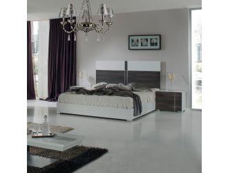 Nova Domus Corrado Italian Modern White & Grey Bed