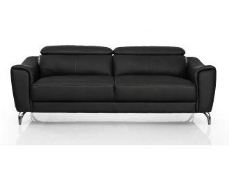 Divani Casa Danis - Modern Black Leather Sofa