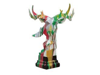 Modrest Deer Head Multicolor Geometric Sculpture