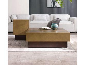 Modrest Derek - Modern Metal & Antique Copper Coffee Table