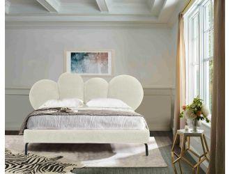Modrest Destiny - Contemporary White Sherpa Bubble Bed