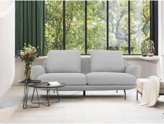 Divani Casa Dolly - Modern Light Grey Fabric Sofa