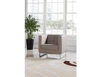 Divani Casa Dominic Modern Grey Fabric Lounge Chair