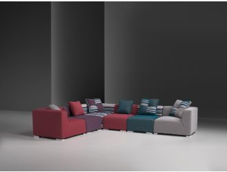 Estro Salotti Donna Modern Fabric Sectional Sofa