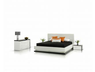 Modrest Infinity - Contemporary White & Black Bedroom Set