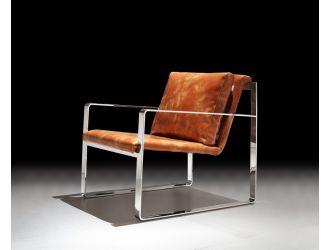 Divani Casa Apex Modern Brown Leatherette Accent Chair