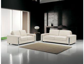 Estro Salotti Modern White Leather Sofa Set