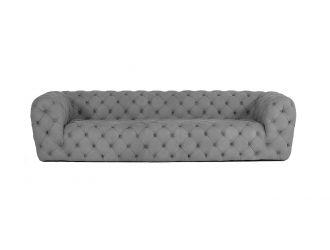 Coronelli Collezioni Ellington - Italian Grey Nubuck Leather 3-Seater Sofa