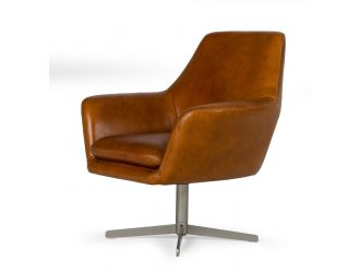 Divani Casa Elvin - Modern Leather Swivel Lounge Chair