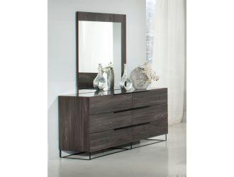 Nova Domus Enzo Italian Modern Grey Oak Mirror