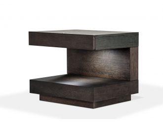 Modrest Esso Modern Brown Oak Nightstand
