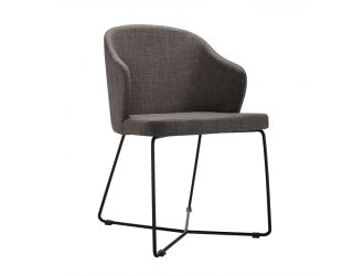 Gia - Modern Grey Fabric Dining Chair (Set of 2)