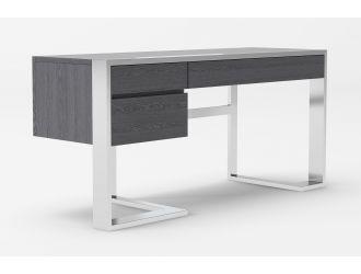 Modrest Fauna - Modern Elm Grey & Stainless Steel Desk