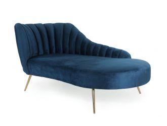 Modrest Florez - Modern Blue Velvet Chaise