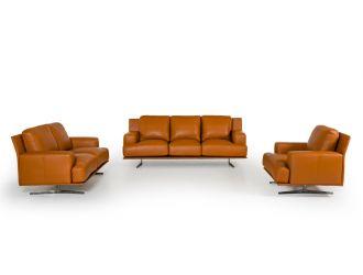 Estro Salotti Foster Modern Brown Leather Sofa Set