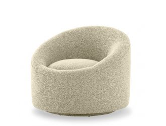 Modrest Frontier - Glam Beige Fabric Accent Chair