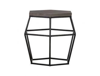 Modrest Tartan Modern Concrete & Metal End Table
