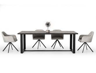 Modrest Hardy Modern Black Acacia Dining Table