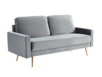 Divani Casa Huffine - Modern Grey Fabric Sofa