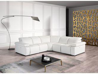 Estro Salotti Hyding - Italian Modern White Leather Sectional Sofa