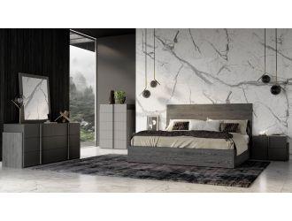 Nova Domus Lucia - Italian Modern Matte Grey / Elm Grey Bedroom Set