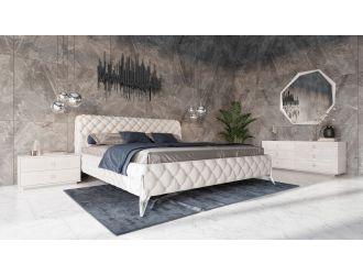 Modrest Legend Modern White Bonded Leather Bed