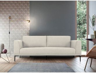Divani Casa Jada - Modern Light Beige Fabric Loveseat
