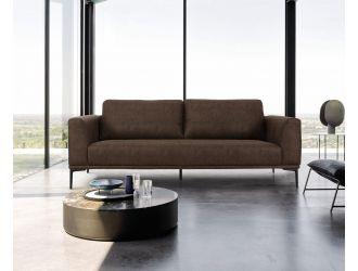 Divani Casa Jada - Modern Brown Fabric Loveseat