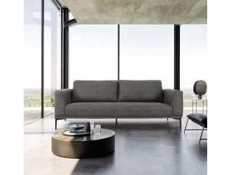 Divani Casa Jada - Modern Dark Grey Fabric Sofa