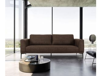 Divani Casa Jada - Modern Brown Fabric Sofa