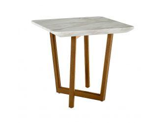 Modrest James - Mid Century Walnut + Ceramic End Table