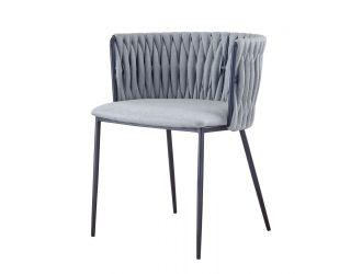 Modrest Janis - Contemporary Light Grey & Black Dining Chair