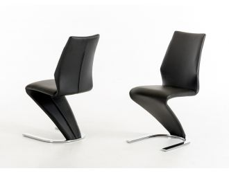 Penn Modern Black Leatherette Dining Chair (Set of 2)